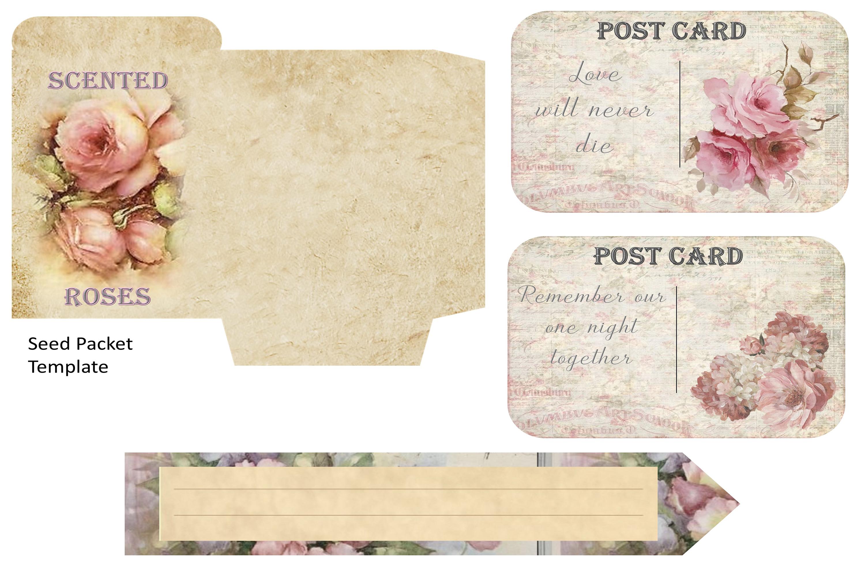 Journaling scrapbooking printable backgrounds with ephemera example image 10