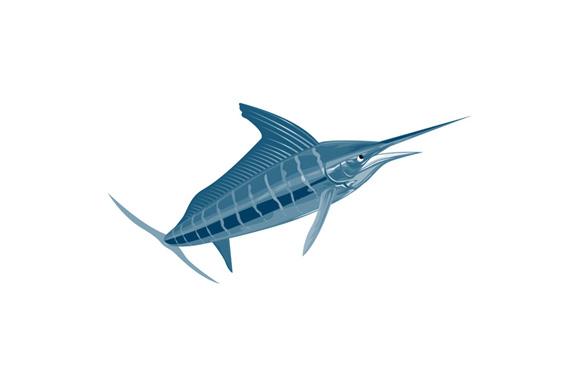 Sailfish Fish Coming Up Retro example image 1