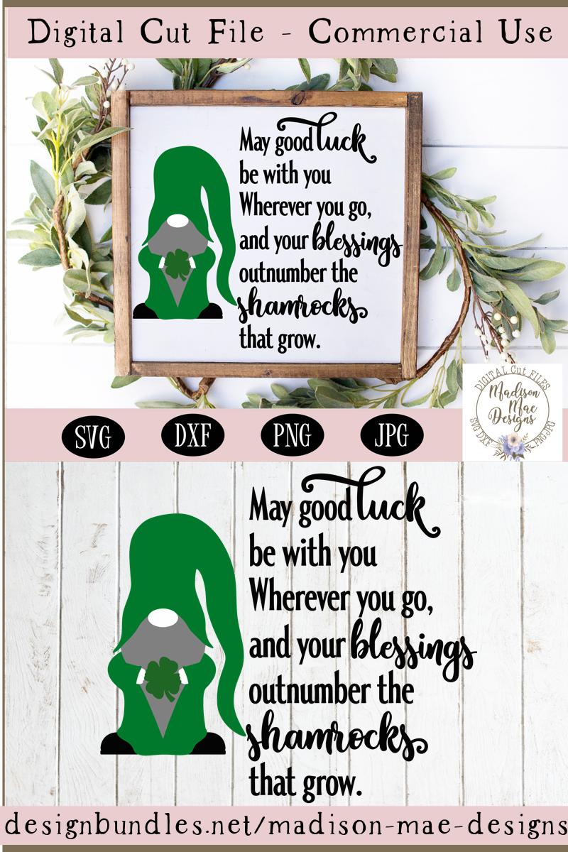 Irish Blessing SVG, Saint Patrick's Day Gnome SVG example image 3