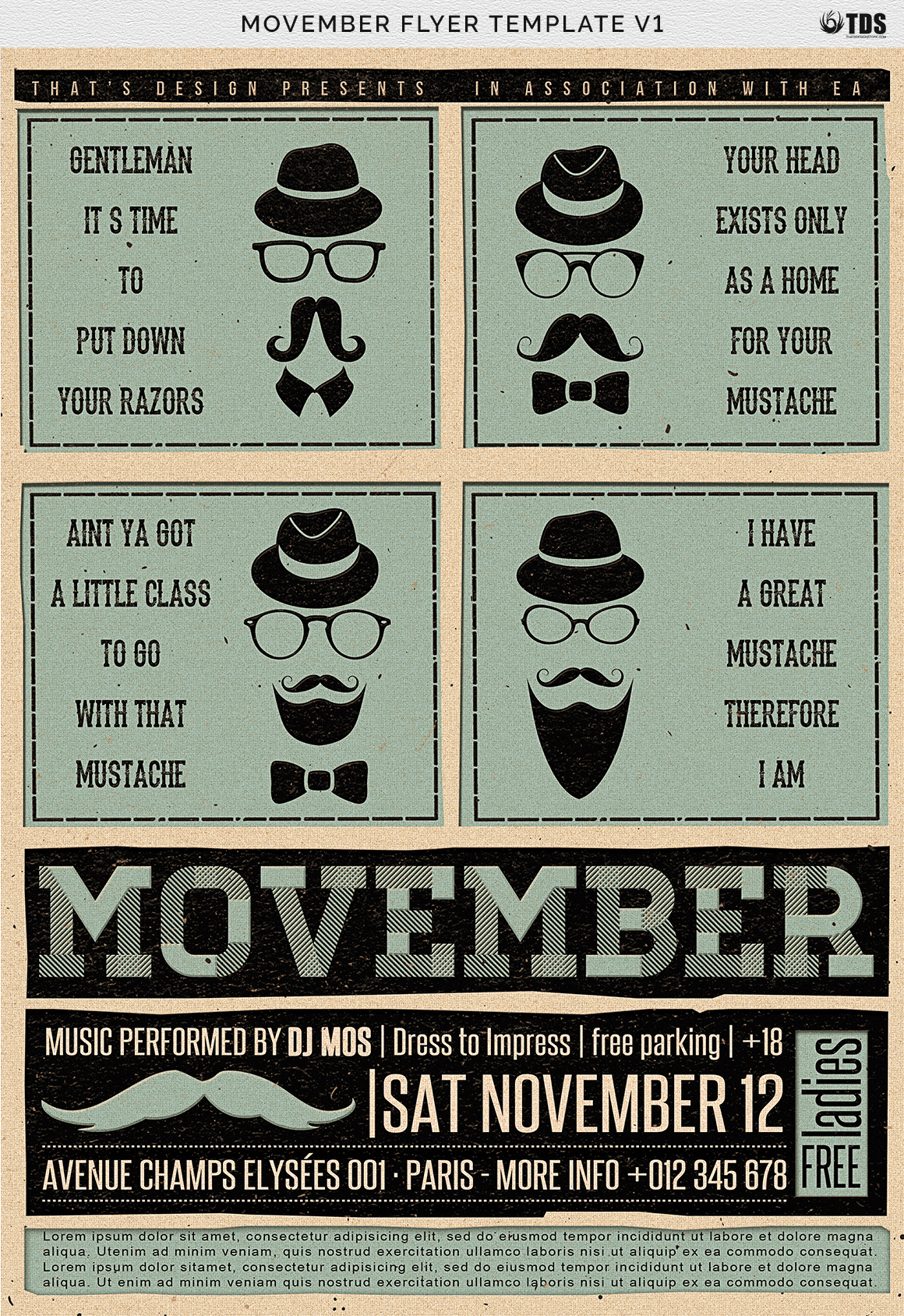 Movember Flyer Template V1 example image 3