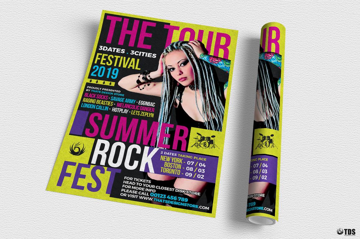 Summer Rockfest Flyer Template example image 3