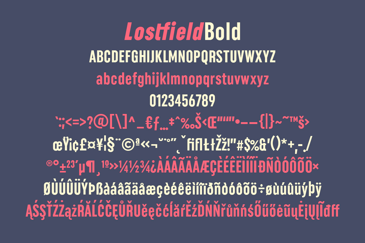 Lostfield Sans Font example image 9