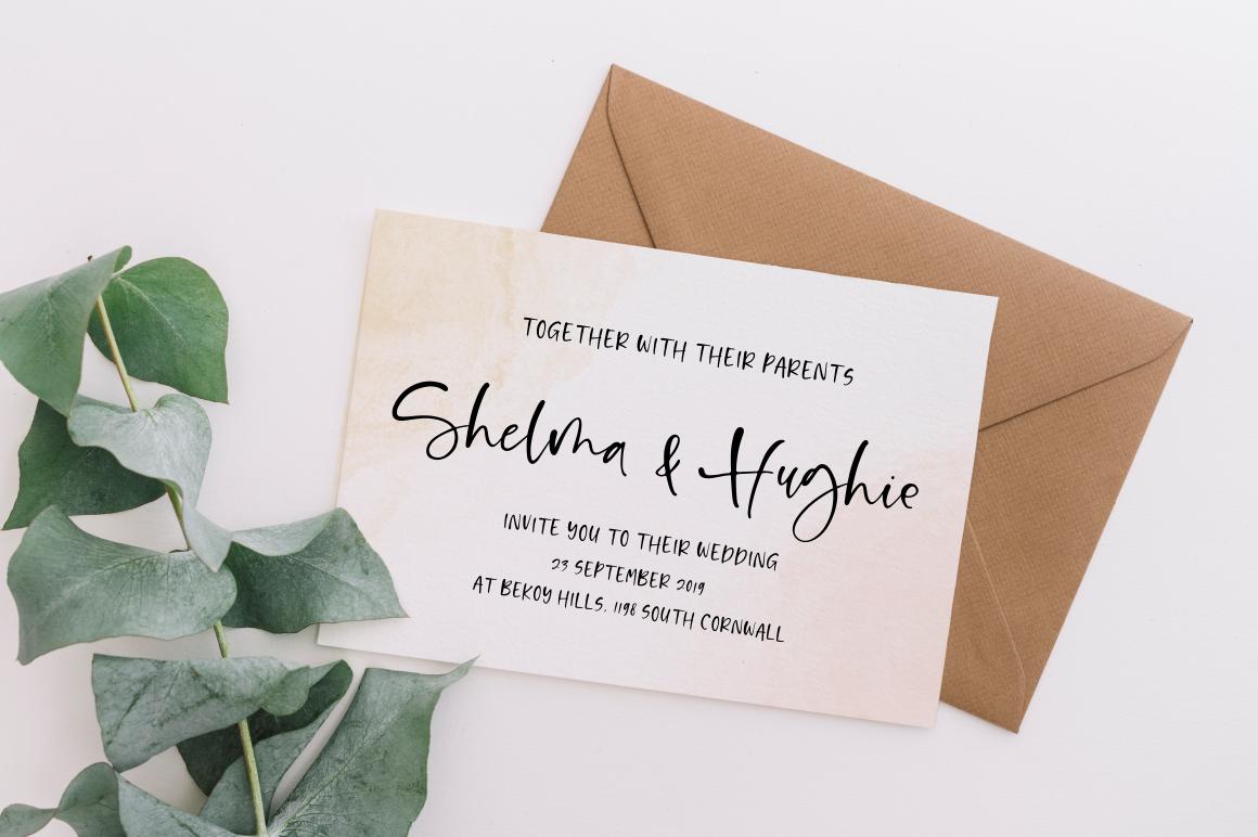 Shelma & Hugie - Font Duo example image 2