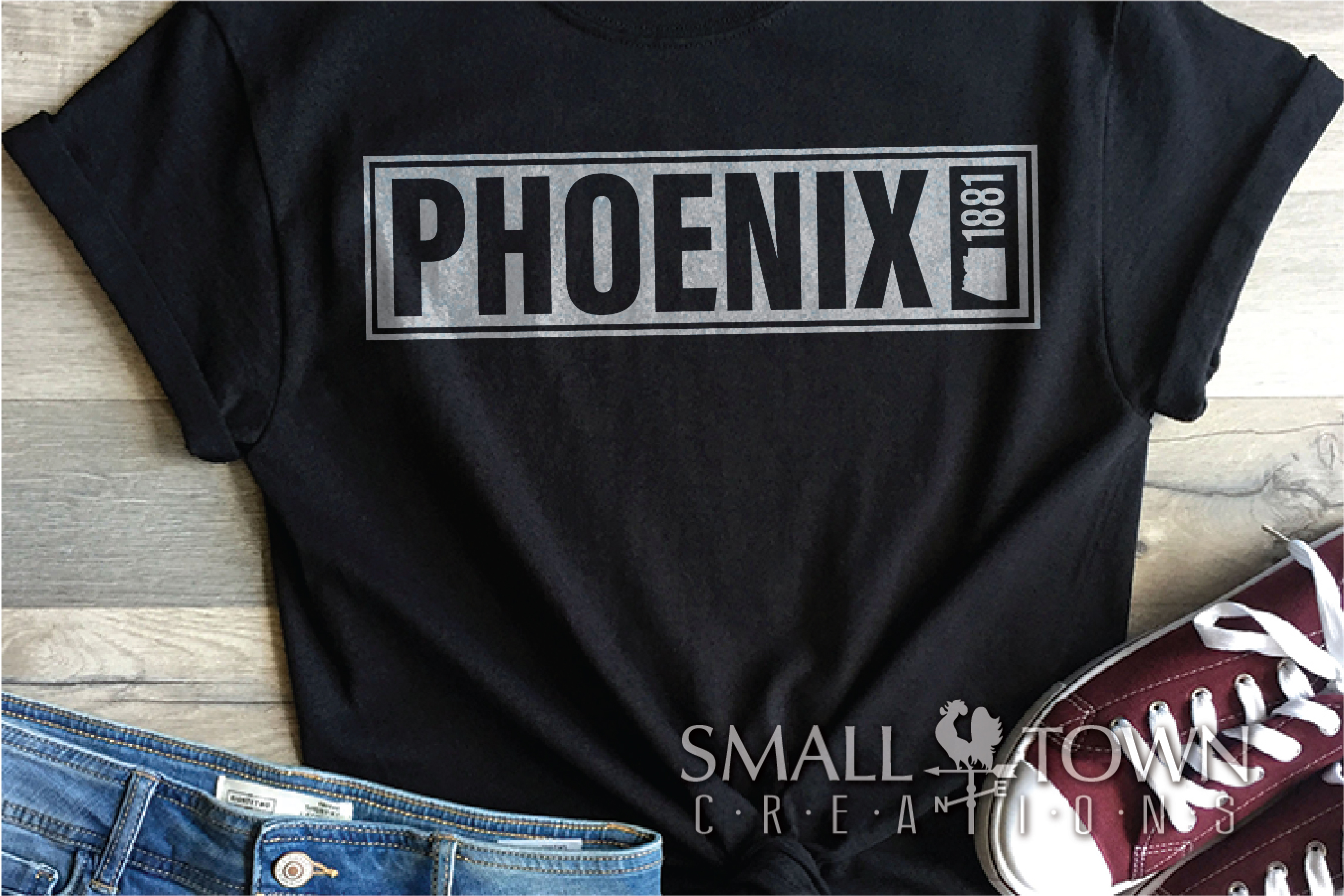 Phoenix, God Enriches - slogan, Arizona, PRINT, CUT & DESIGN example image 6