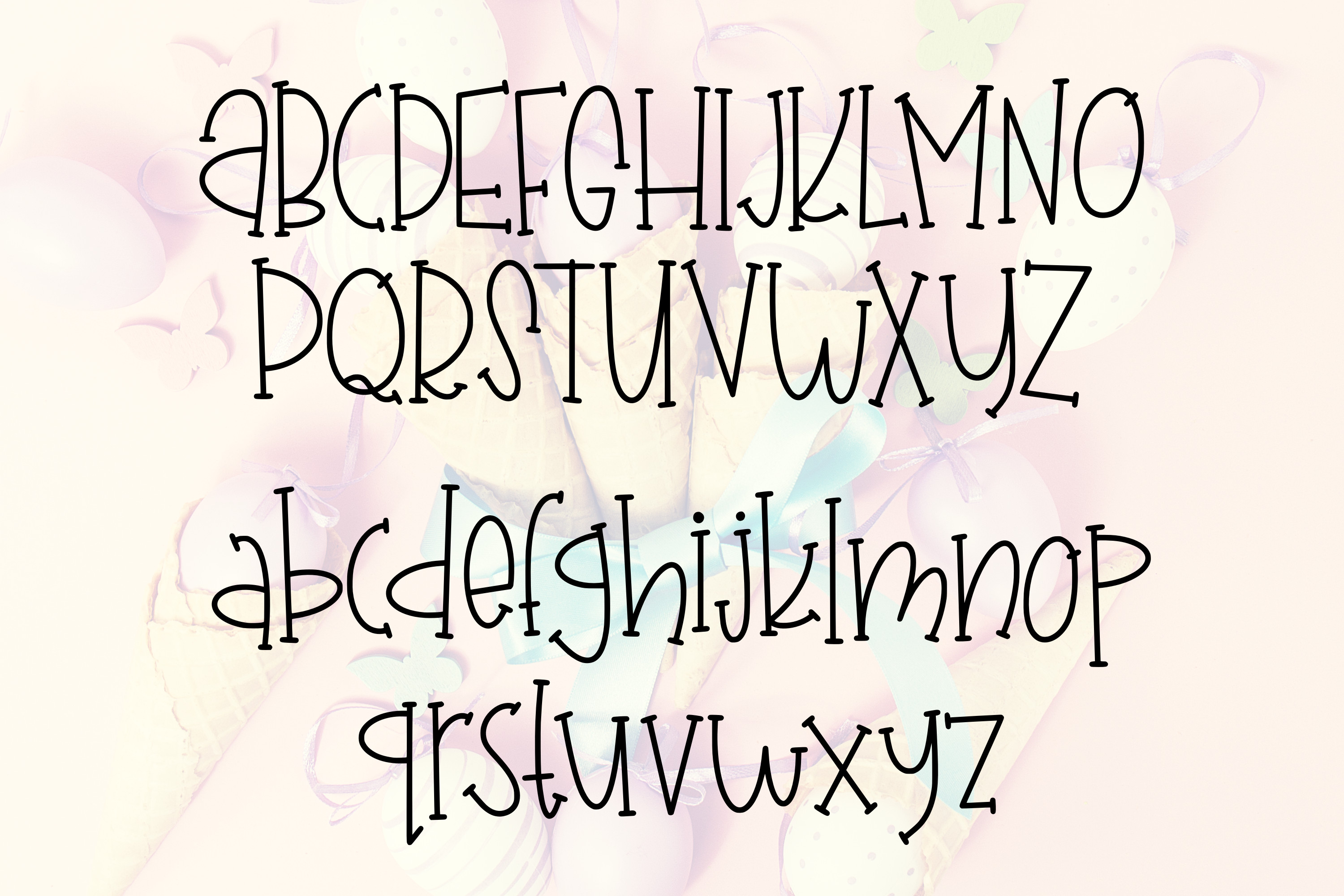 Chick-A-Leigh a Spring Font with Extra Doodles! example image 2