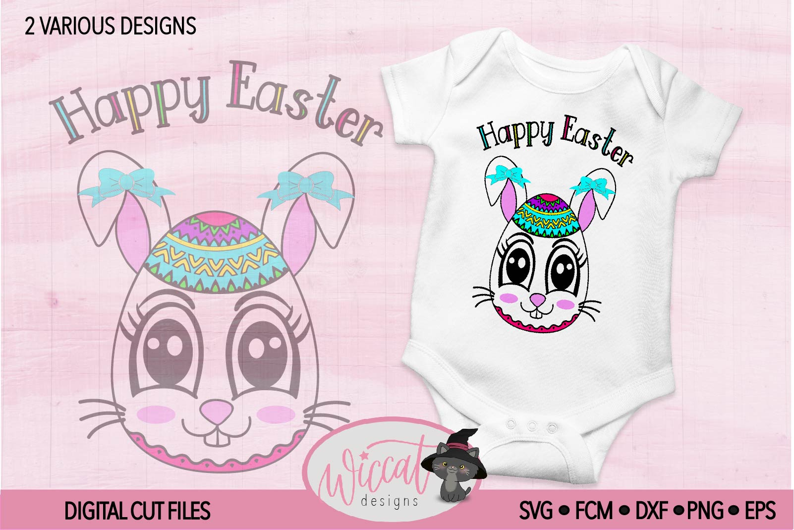 Easter egg with Bunny face svg, Girl bunny face svg cut file example image 3