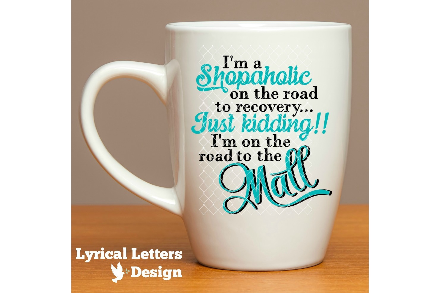 Shopaholic On the Road to the Mall SVG Cut File LL096D example image 2