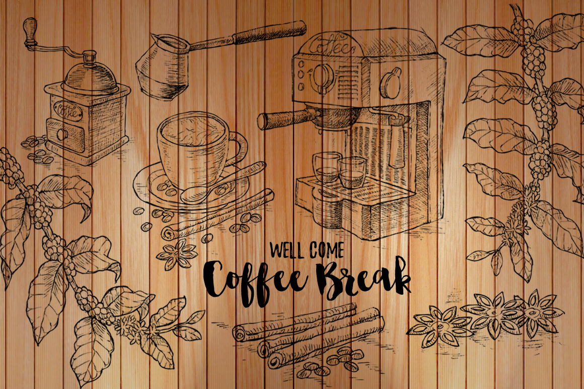 Watercolor Coffee Break example image 5