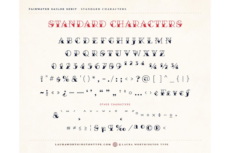 Fairwater Deco Serif example image 8