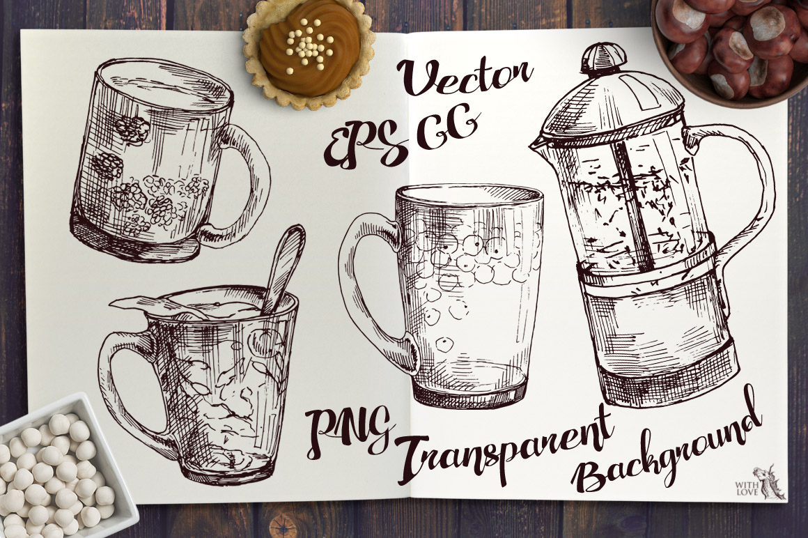 Autumn Beverage Ink Sketches example image 5