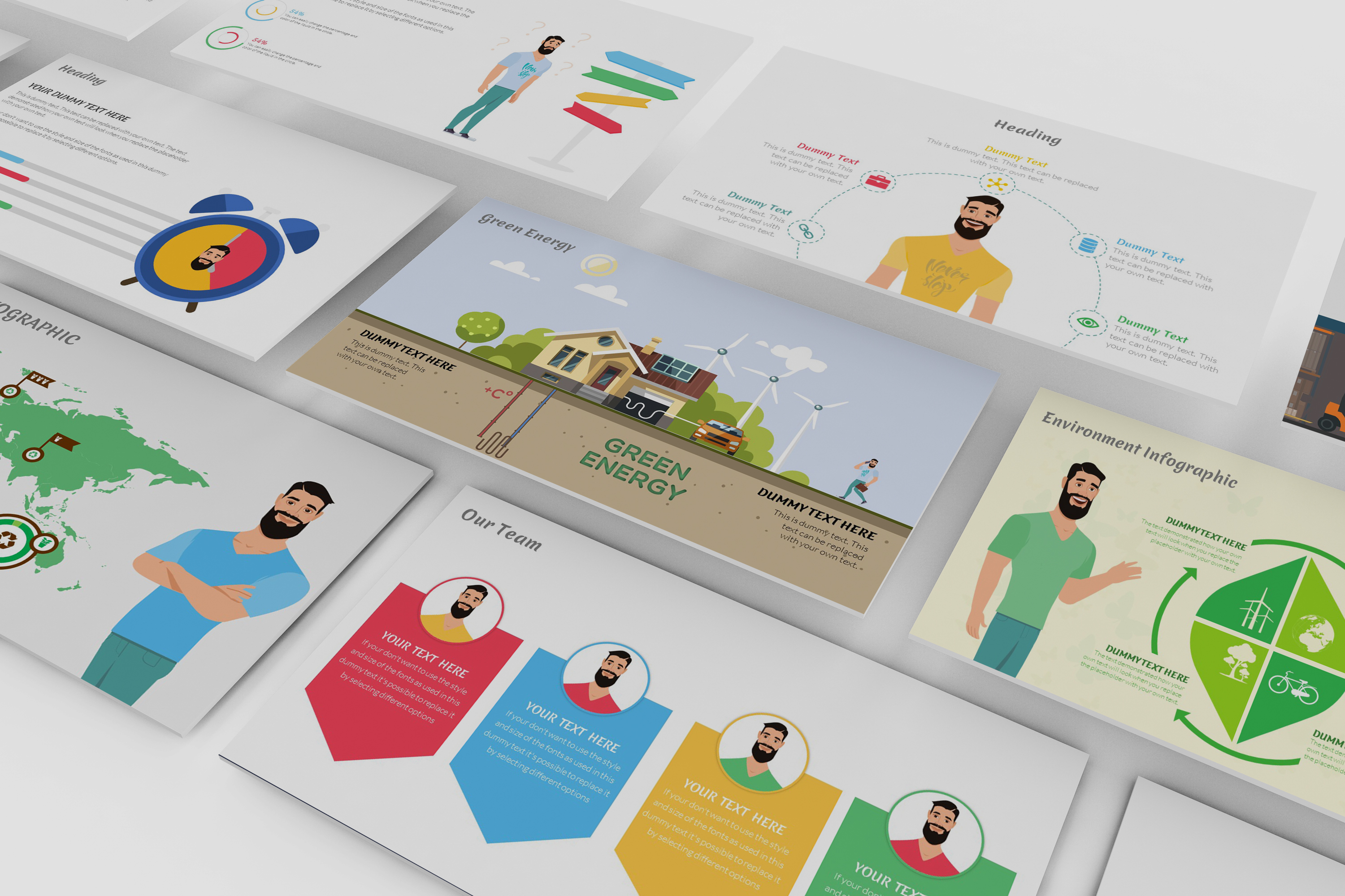 E-Trainer PowerPoint Template 1 example image 2