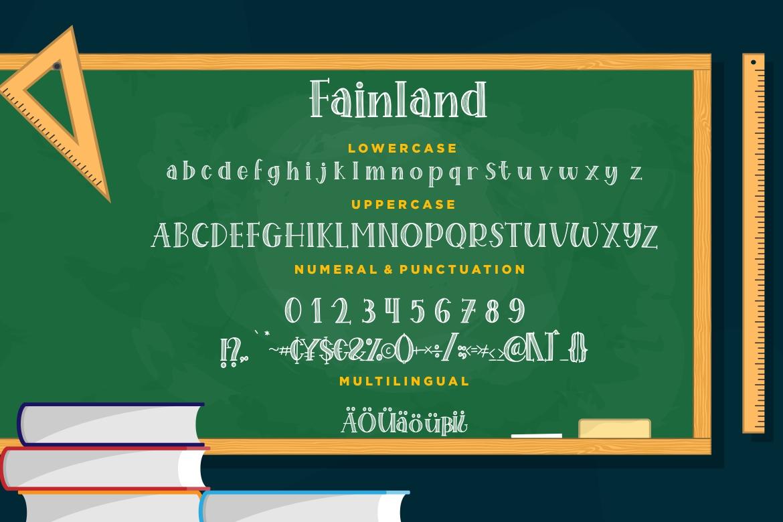 Fainland Stylish Sans example image 7