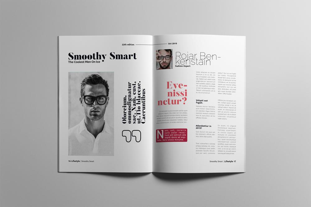 Fashion Magazine Layout Template example image 9