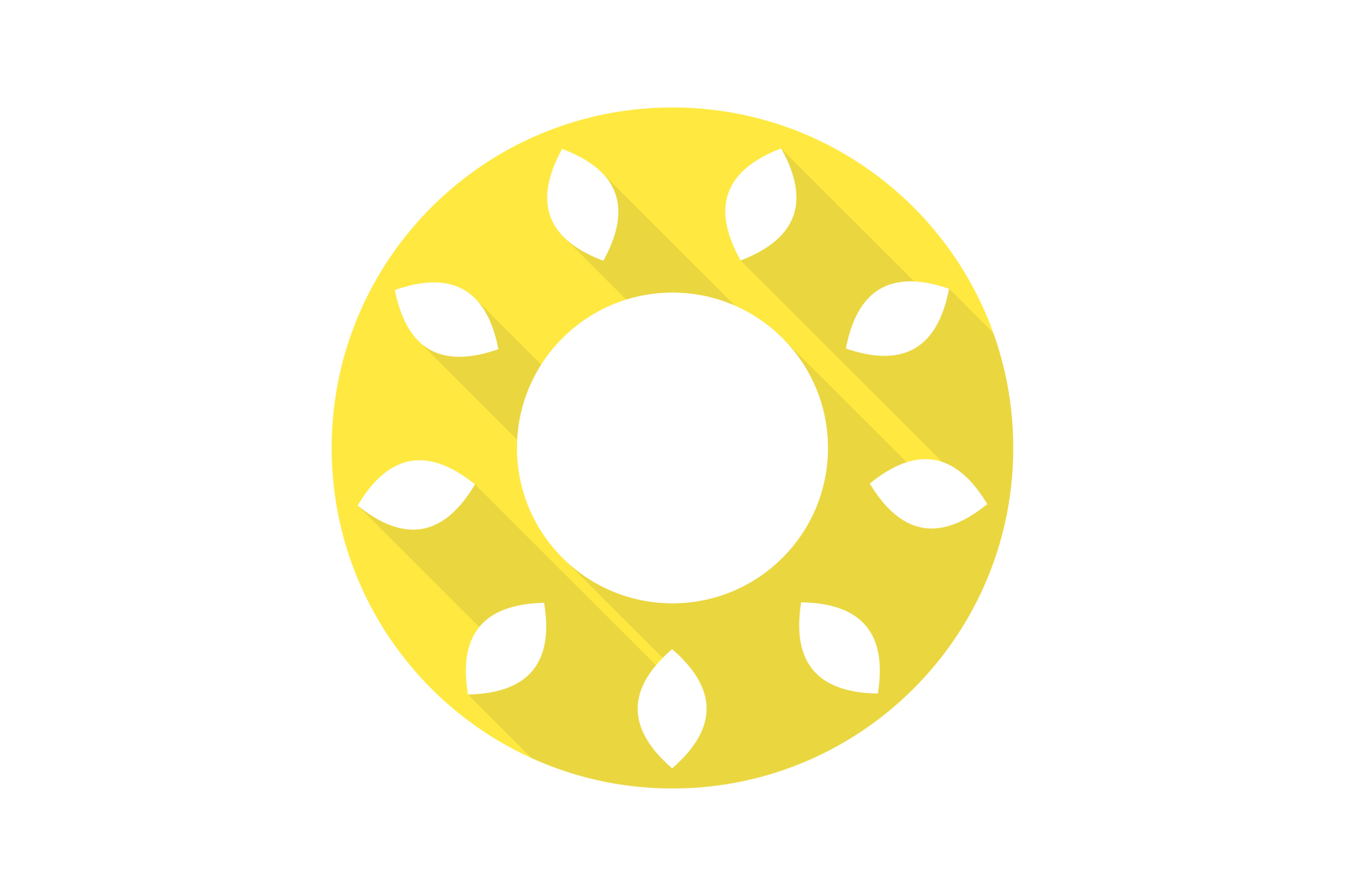 Vector sun icons set. Flat design. example image 5