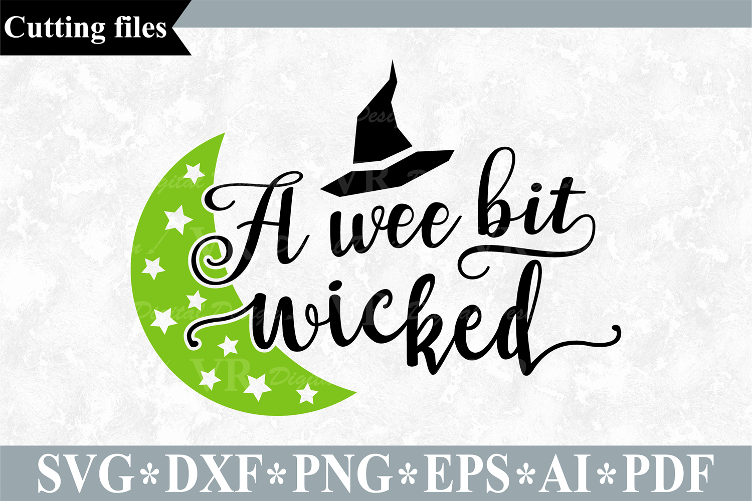 A wee bit wicked SVG, Halloween cut file example image 1