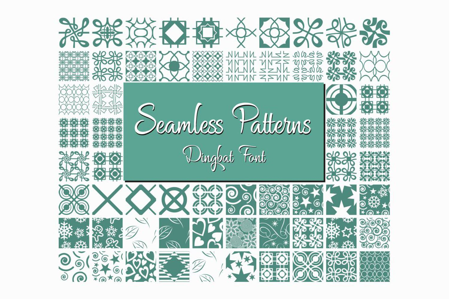 Seamless Pattern Dingbat Font example image 2