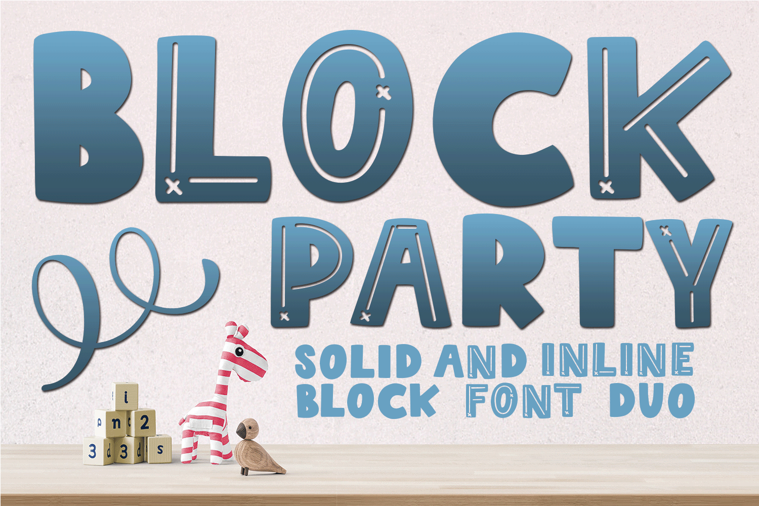 Block Party - Solid and Inline Font Duo example image 1