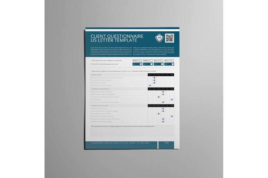 Client Questionnaire US Letter Template example image 4