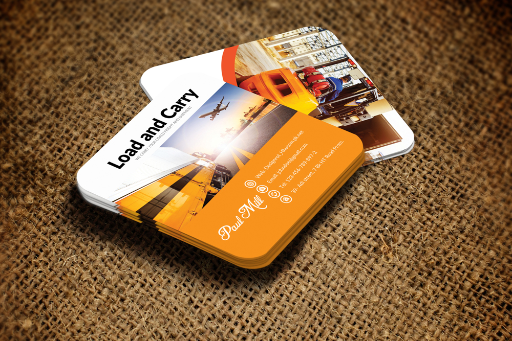 Freight & Shipment Small Business Card example image 3