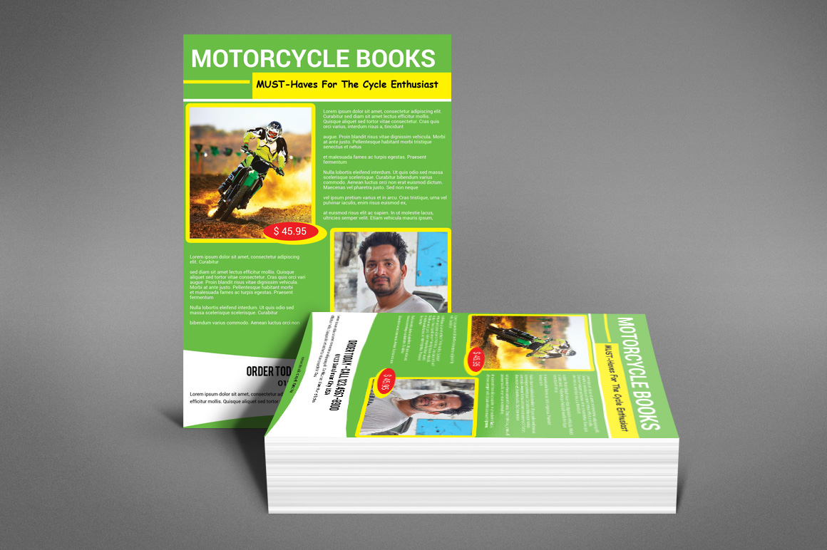 MOTORCYCLE BOOKS FLYER example image 2