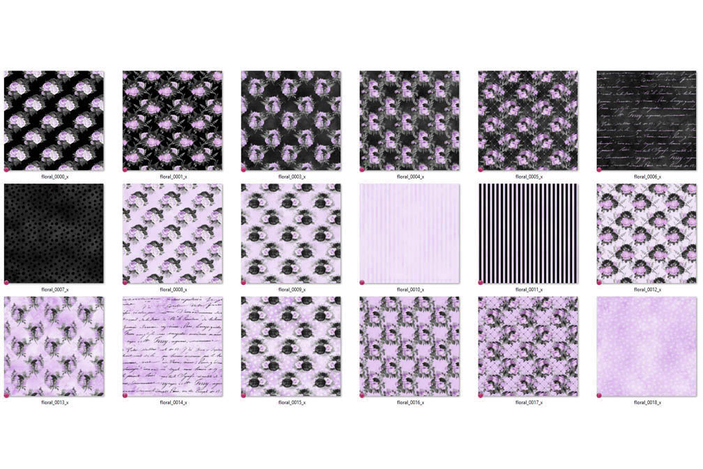 Black Purple and Silver Digital Paper example image 4