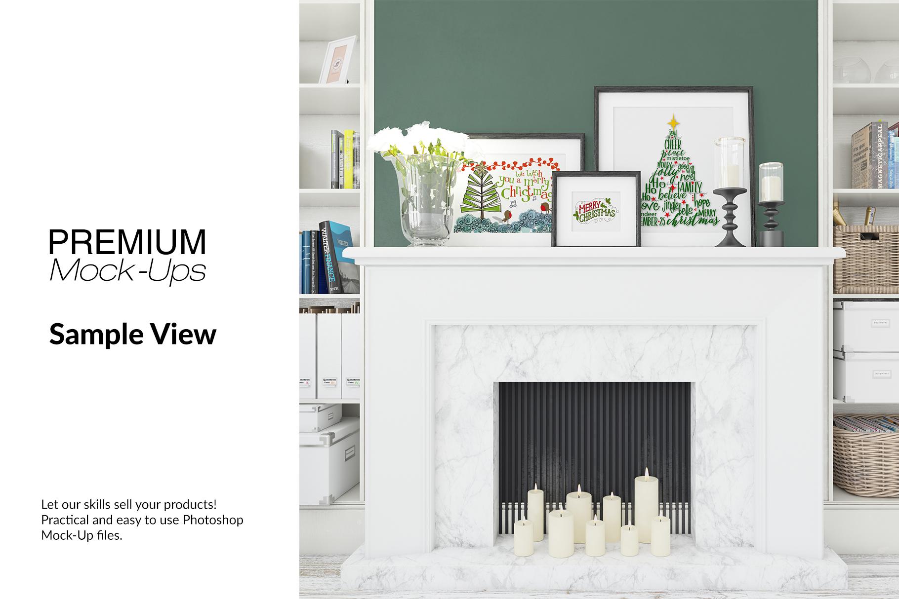 Christmas Living Room - Pillow & Frames Set example image 13