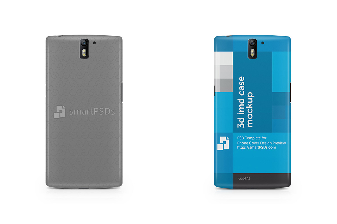OnePlus One 3d IMD Mobile Case Design Mockup 2014 example image 1