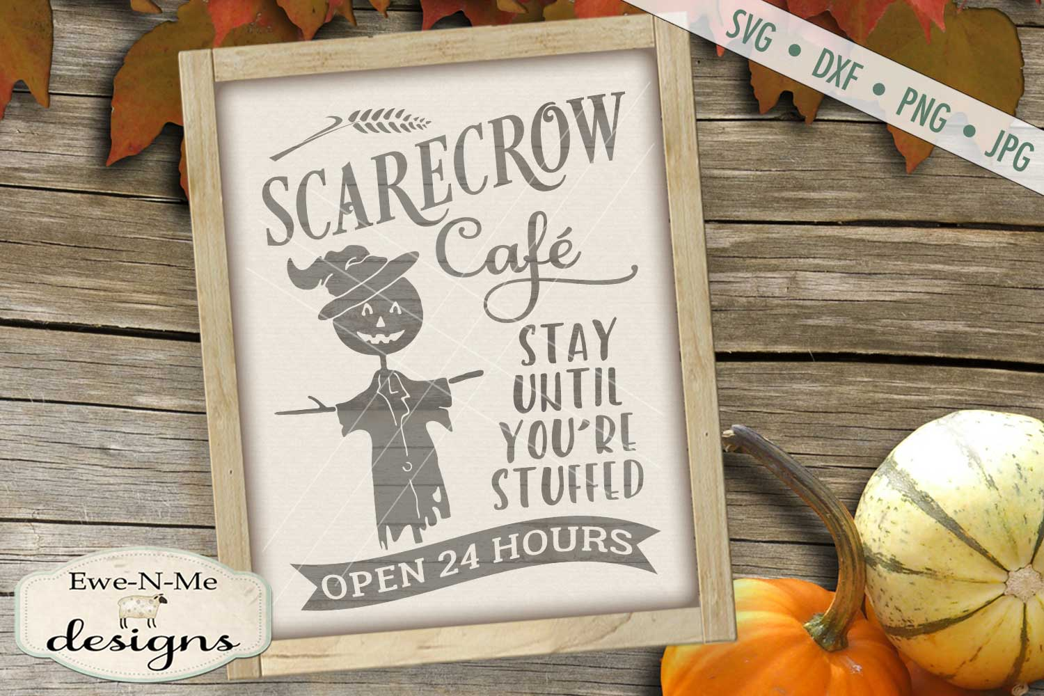 Scarecrow Cafe SVG DXF Files example image 1