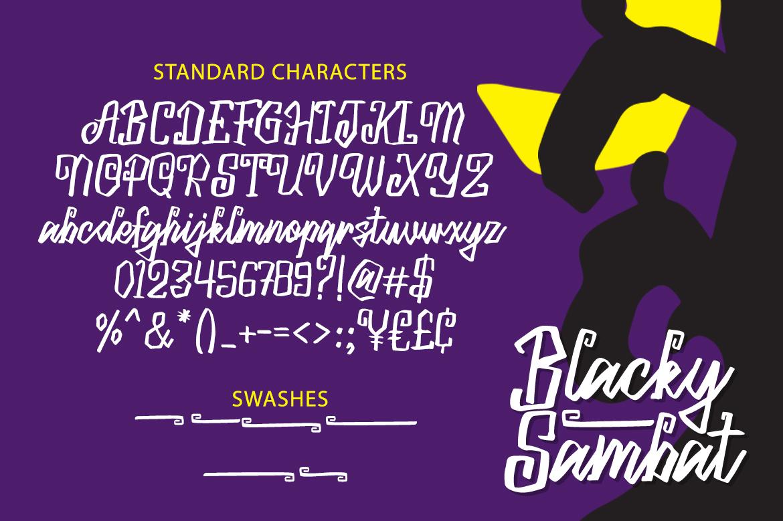Blacky Sambat - Halloween Font example image 6