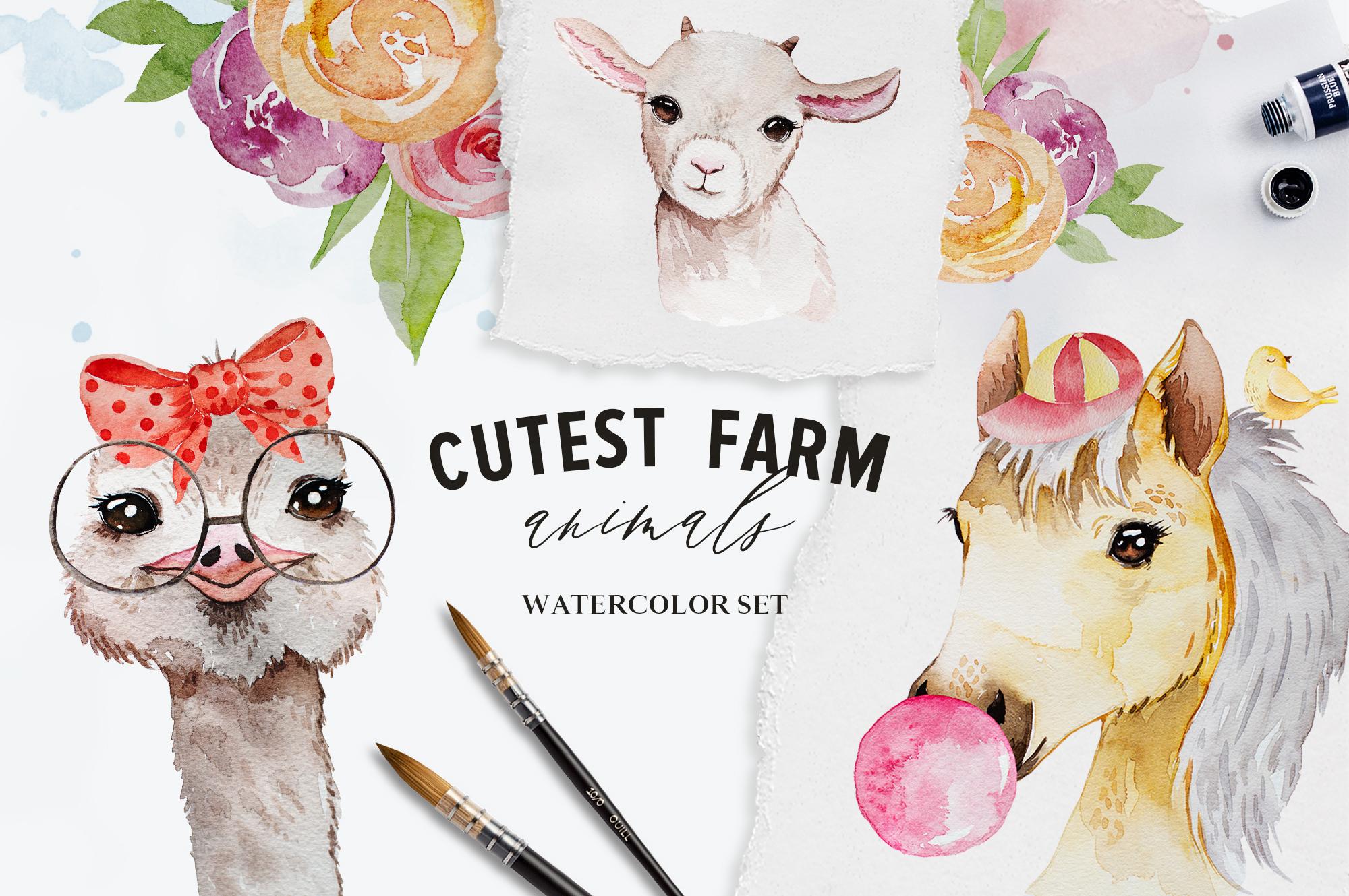 Cutest Farm Animals Set example image 1