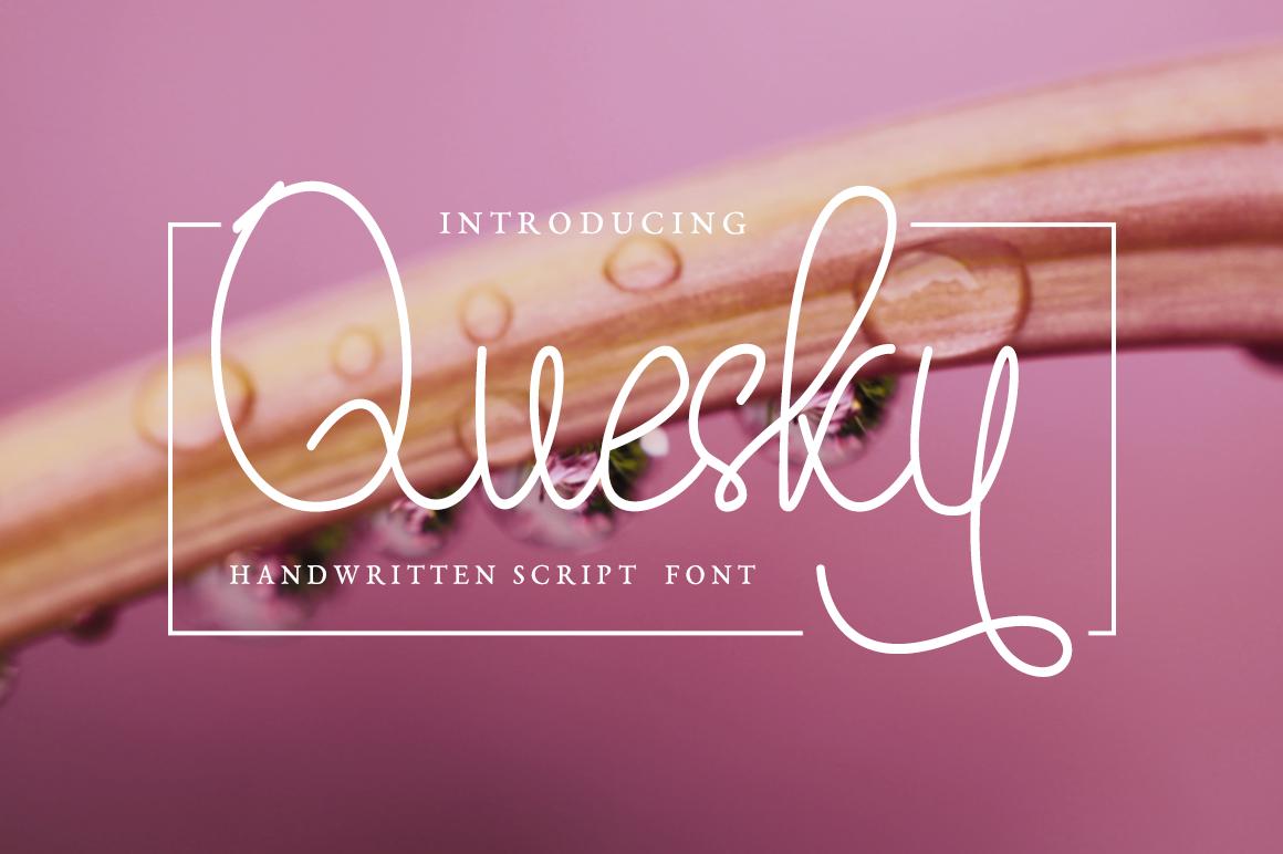 Quesky Handwritten Script example image 1