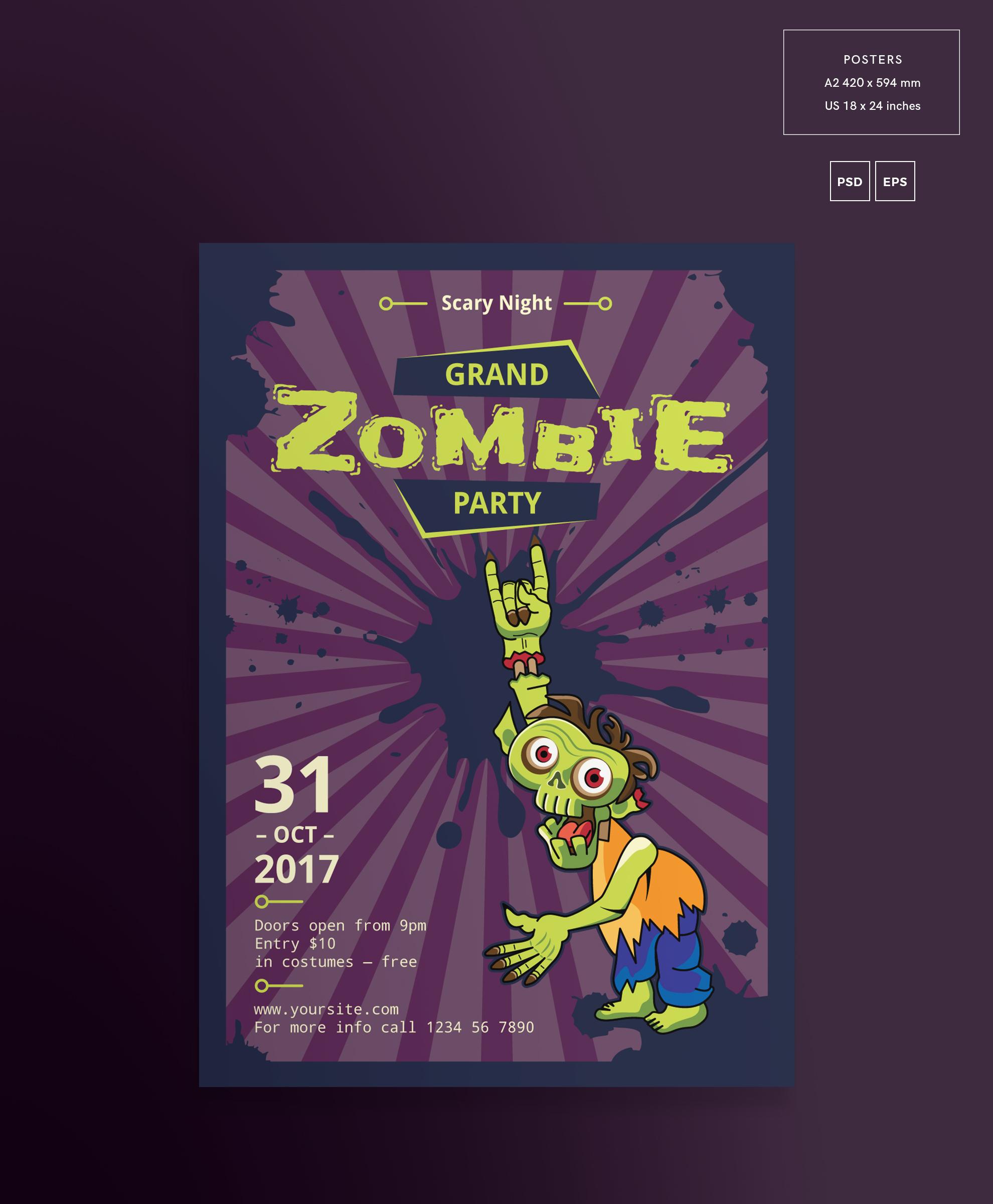 Zombie Party Design Templates Bundle example image 3