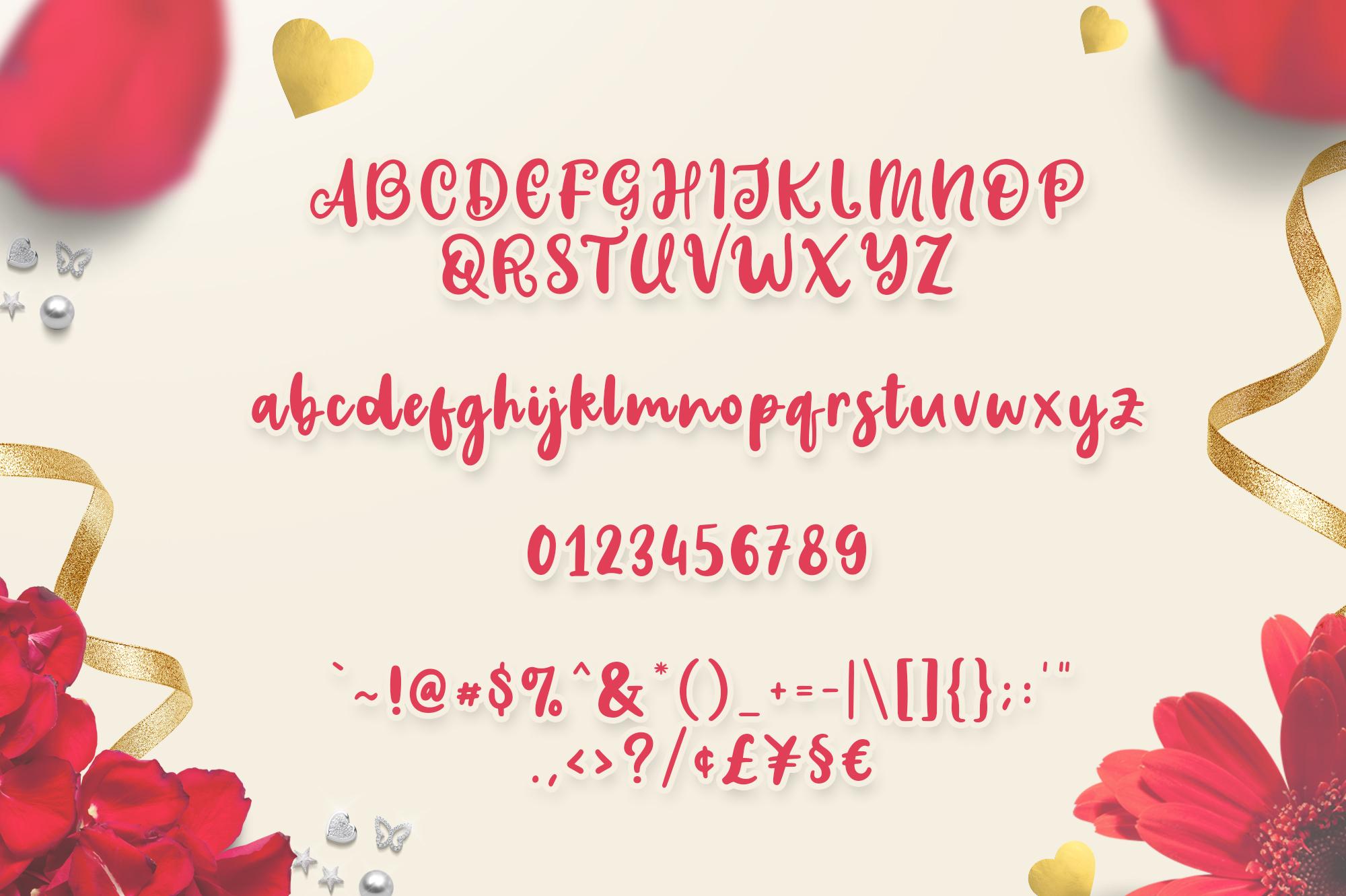 Valentins Plus Bonus 2 Font example image 8
