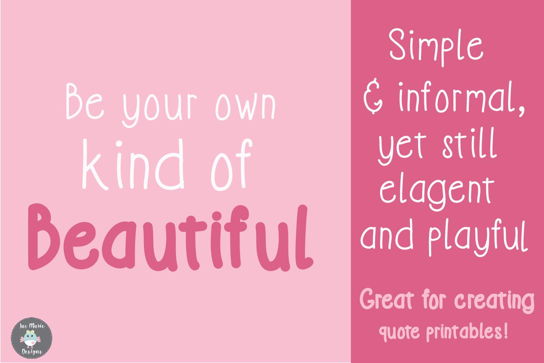 Simplicity an informal display font example image 3
