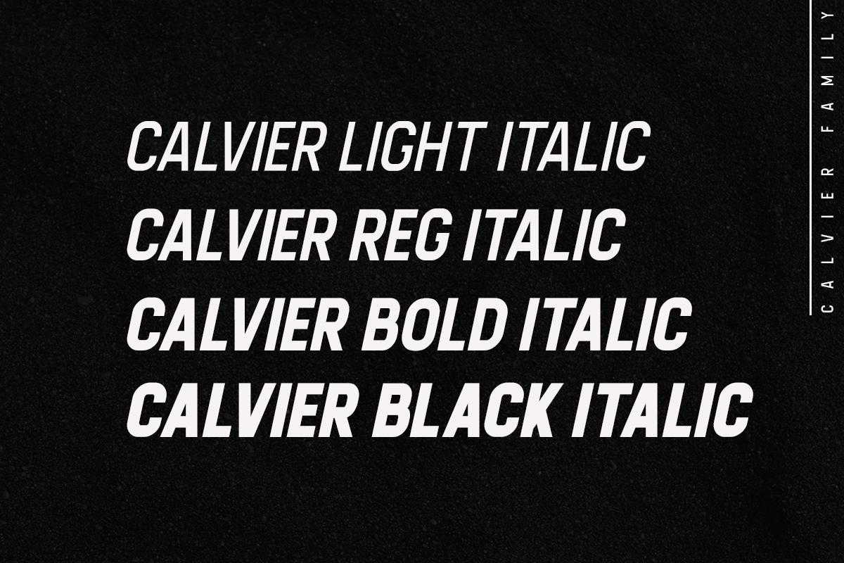 Calvier - Headline Sans Family example image 3