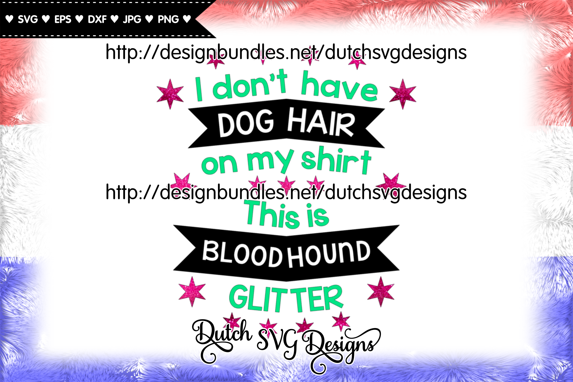 Text cutting file Dog Hair Bloodhound, bloodhound svg example image 3