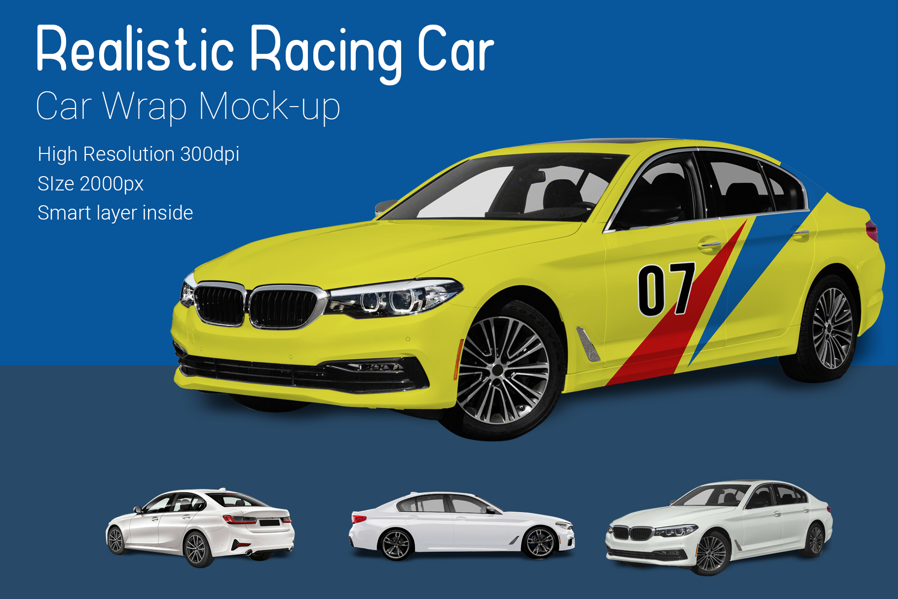 Racing Car Mock-Up example image 1