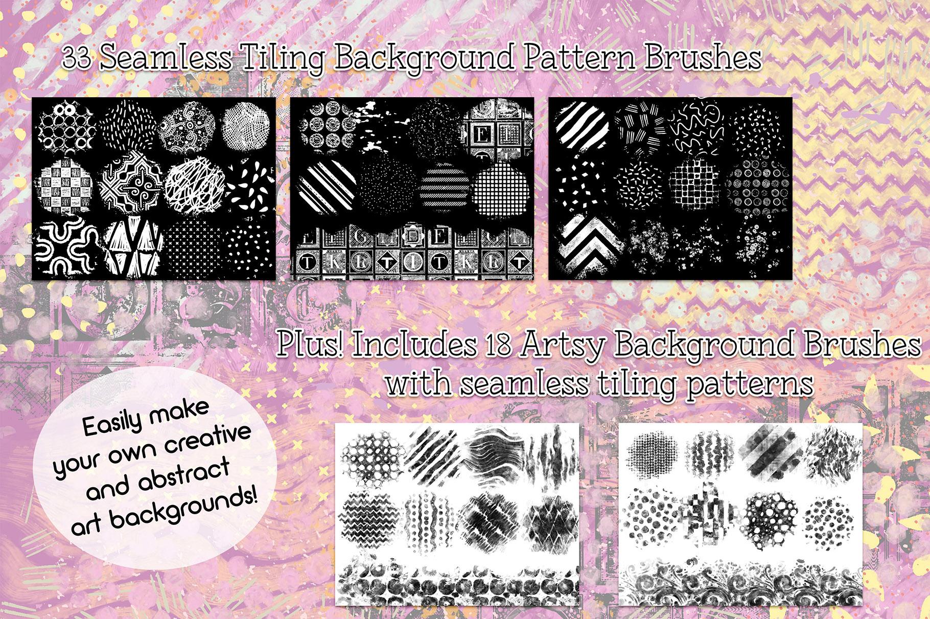 Procreate Background Brushes Set 2 example image 2