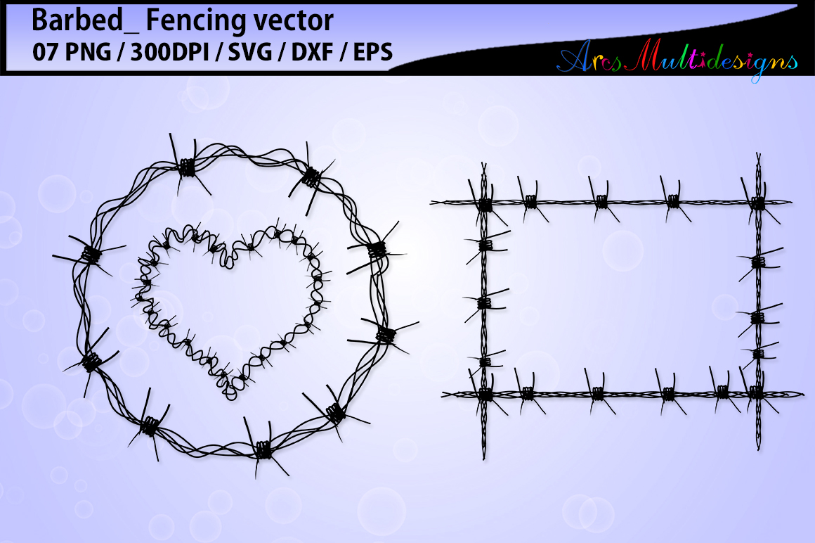 Barbed wire silhouette svg / barbed wire pack vector / fence svg / barbed wire example image 2