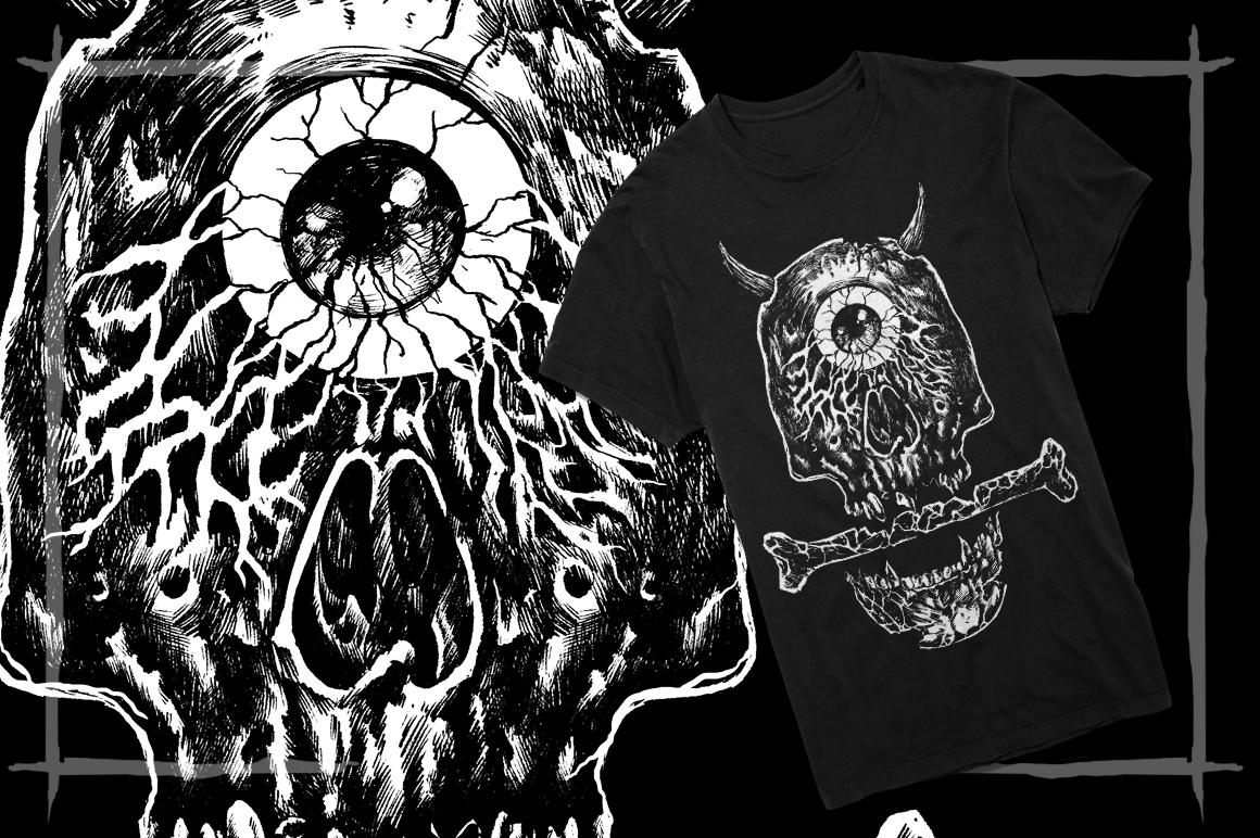 T-Shirt Designs Skull example image 4