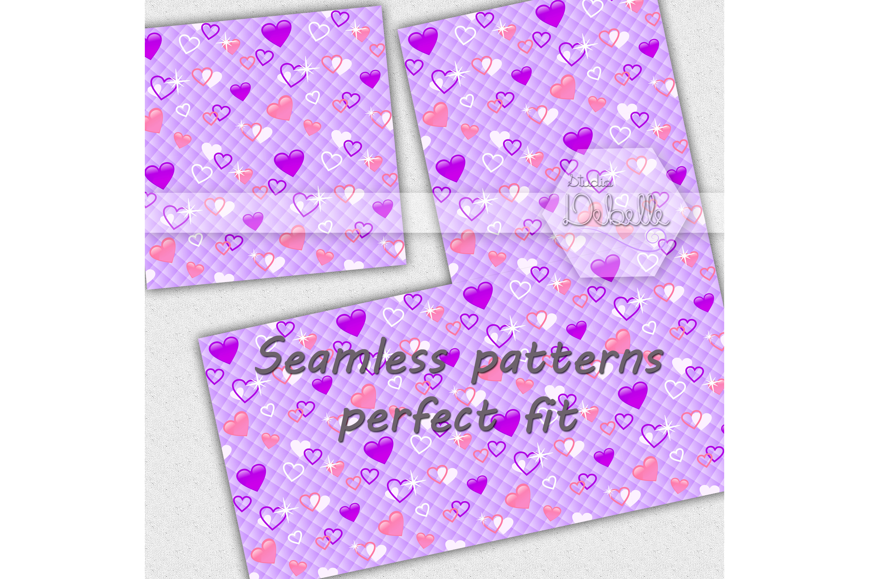 Fashion Pink digital paper seamless pattern example image 2