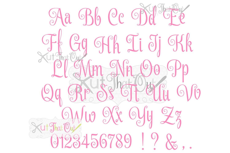 EXCLUSIVE Elegant Script SVG & DXF Cut File example image 3