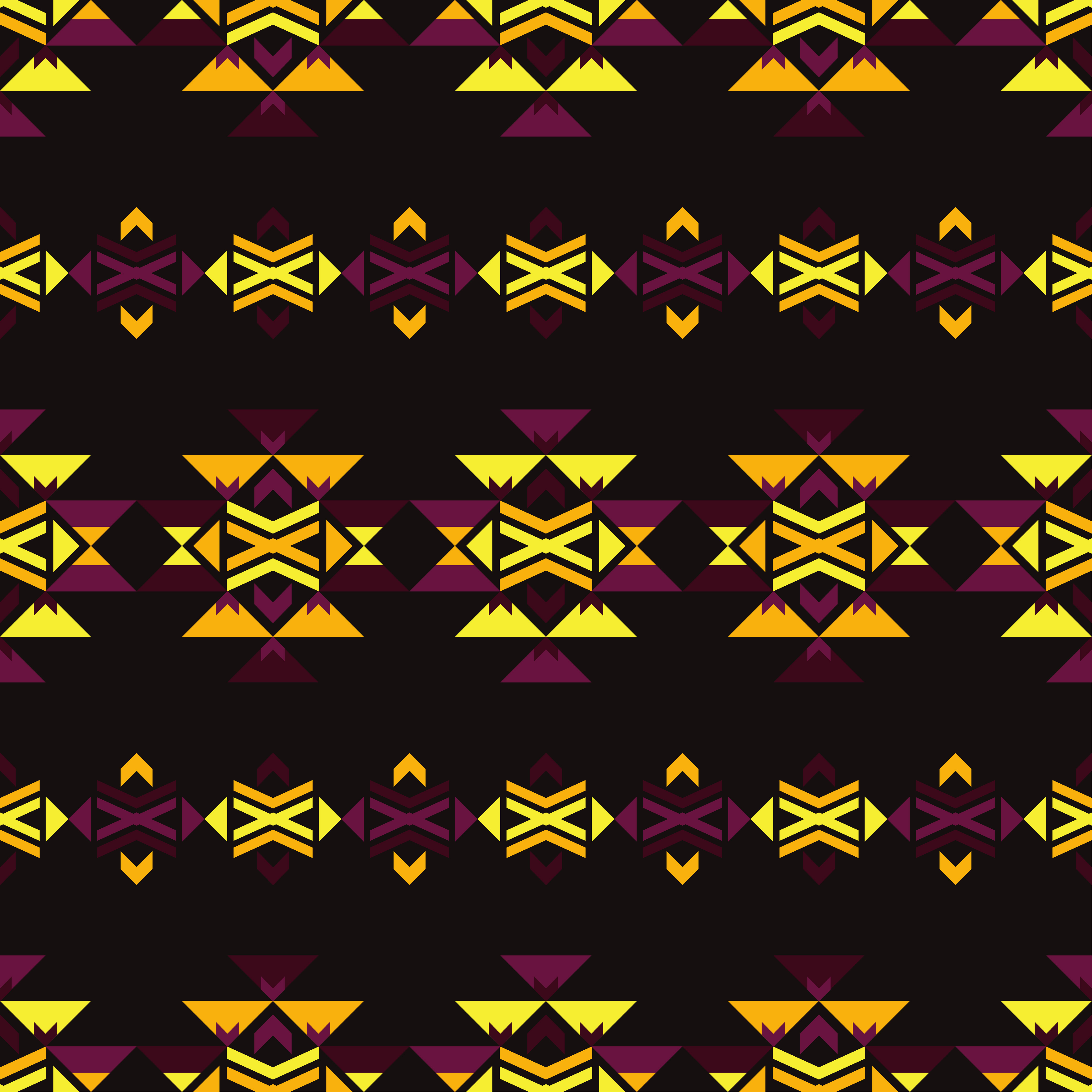 Set of 6 Ethnic boho seamless pattern. Tribal pattern.  example image 4