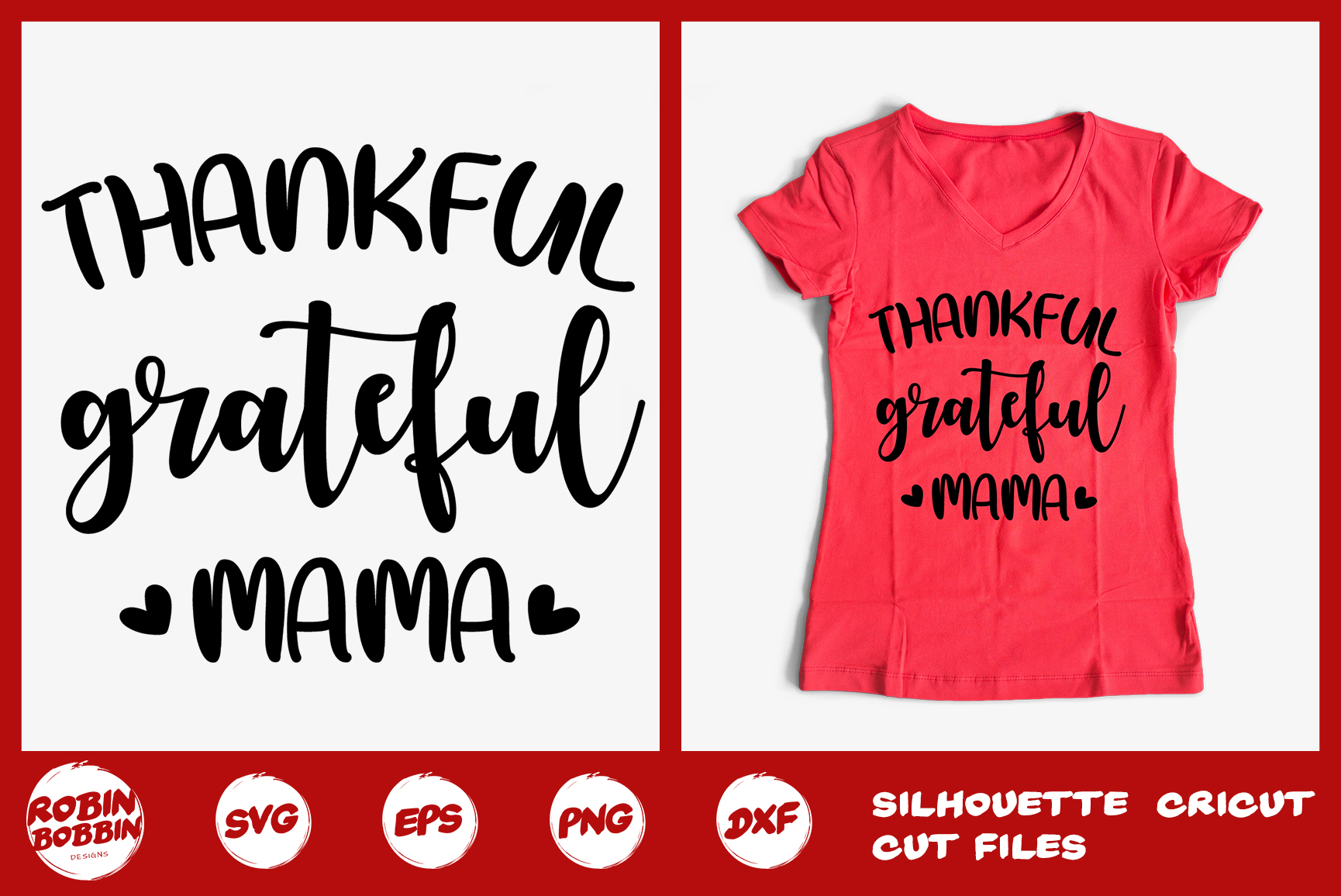 Thankful Grateful Mama Svg - Mother SVG PNG EPS DXF Crafts example image 1