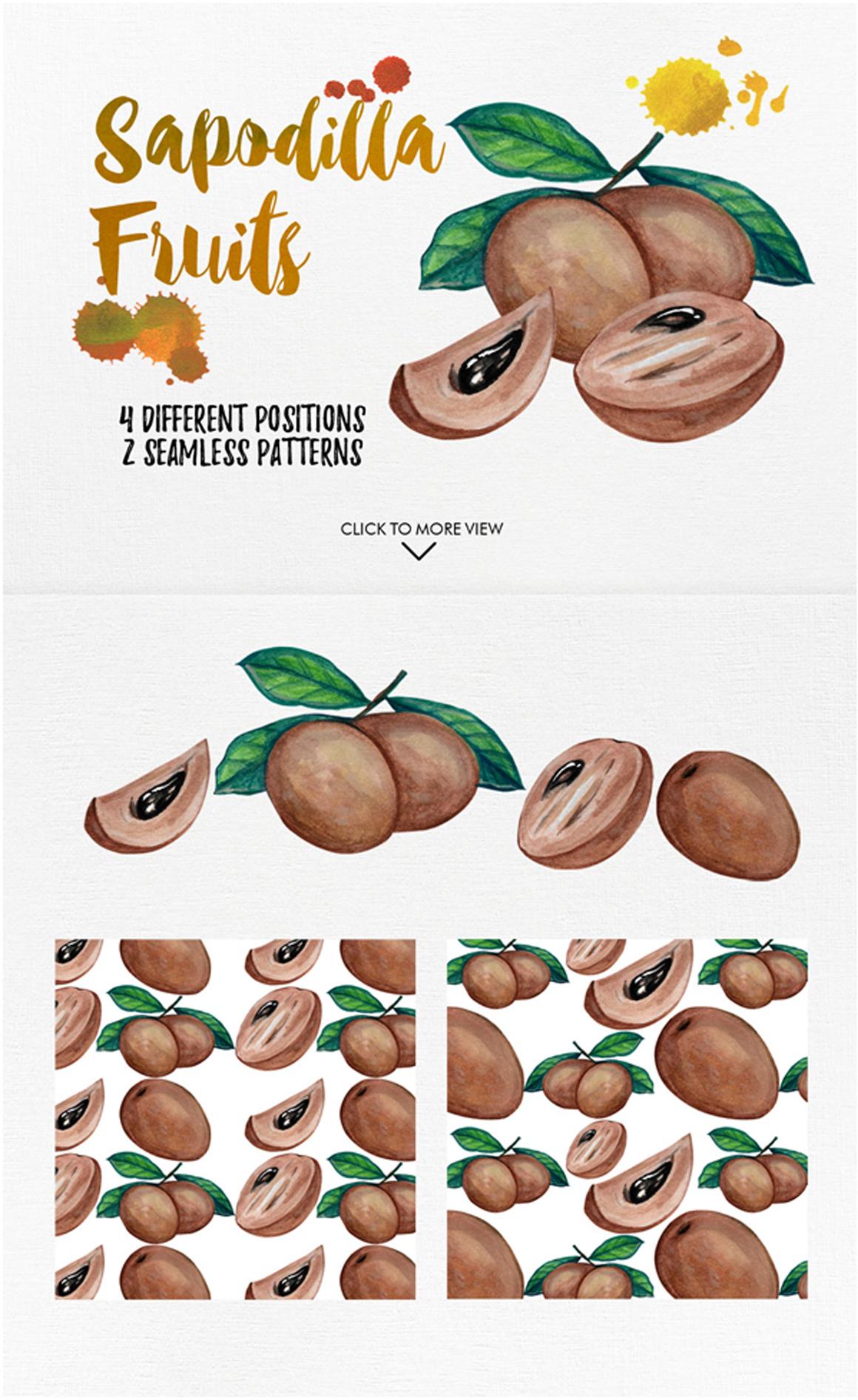 watercolor fruit vol.7 example image 4