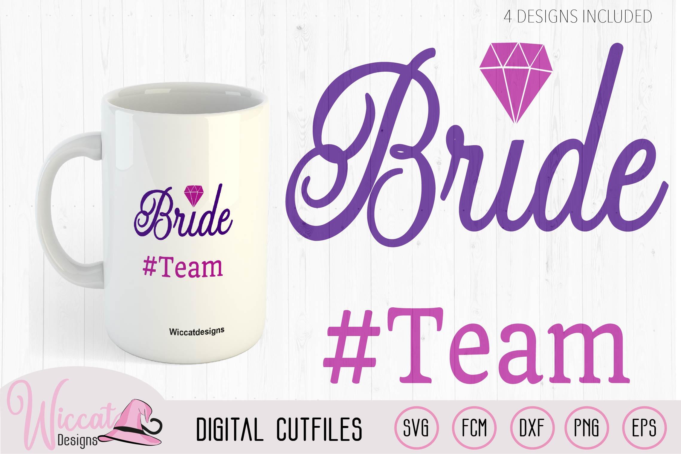 Diamond ring bride svg, women example image 2