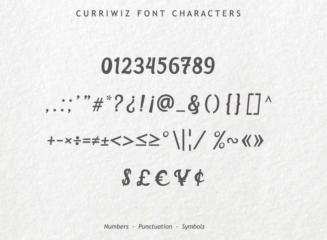 Curriwiz Font example image 6