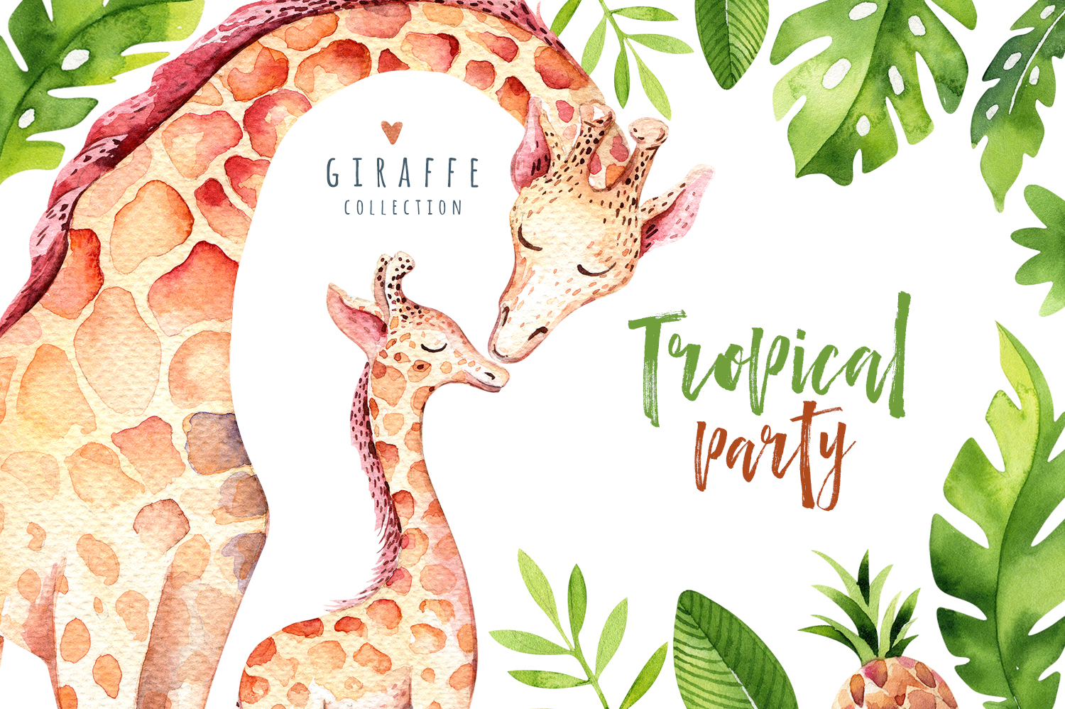 Giraffe collection. Tropical party example image 1