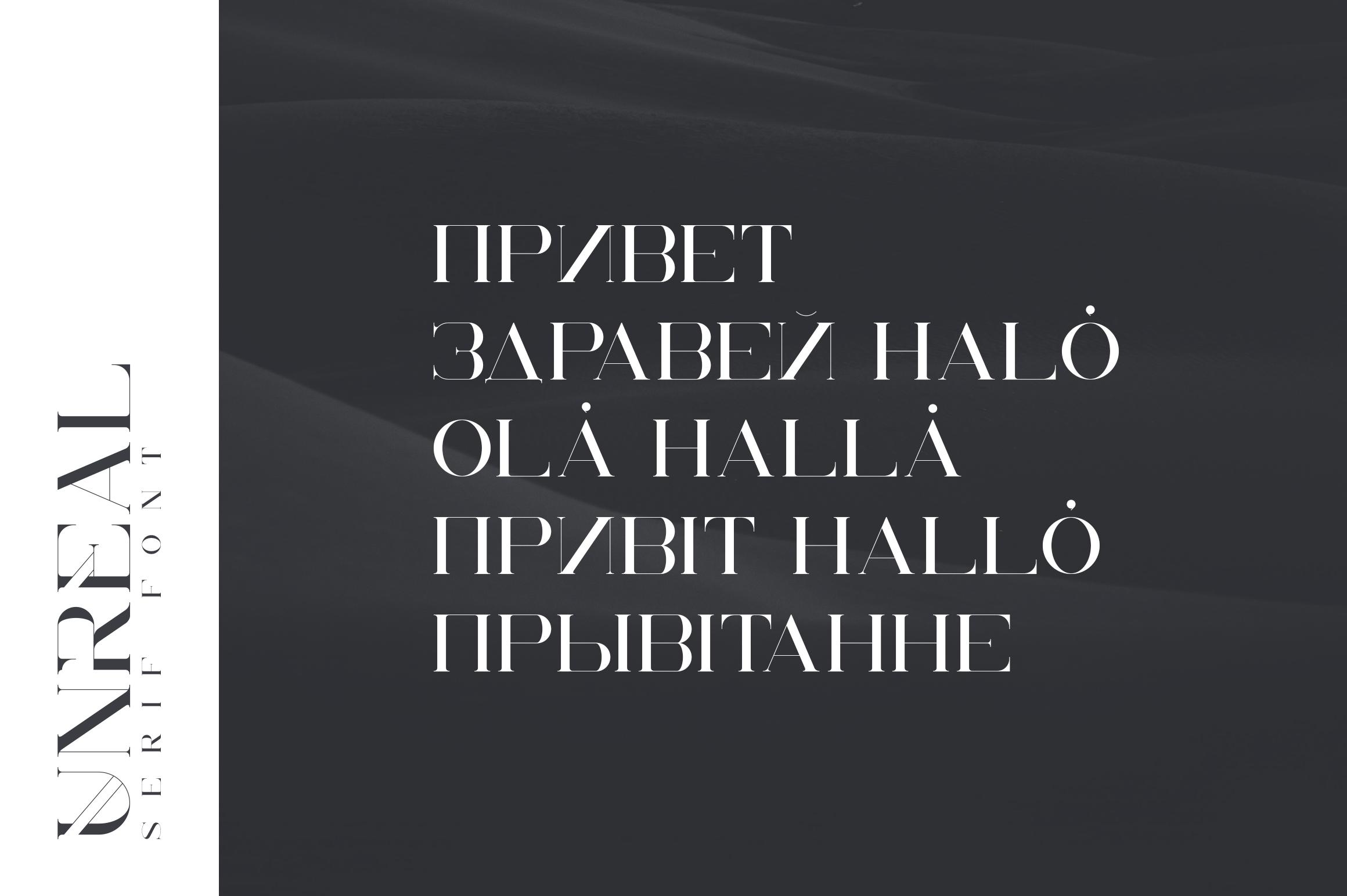 Unreal serif font - Latin & Cyrillic example image 2