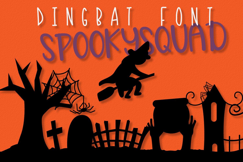 SpookySquad - Dingbat Font  example image 2